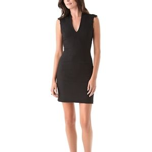 Helmut Lang Black Seamed back zip dress sz 4